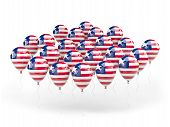 Balloons With Flag Of Liberia
