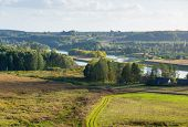 Kernave landscape at summer. The Kernave was a medieval capital of the Grand Duchy of Lithuania