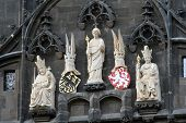 Royal Figures On The Watchtower In Prague