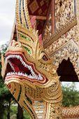 Dragon At Wat Phra Sing In Chiang Mai; Thailand