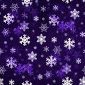 Dark Purple Snowflakes