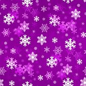 Light Lilac Snowflakes