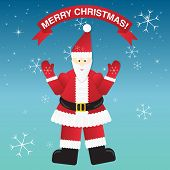 Christmas Greeting Card With Santa Claus.