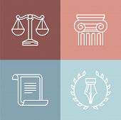 Vector Set Of Juridical And Legal Logos