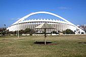 Reed Sunshade On Grass Outside Moses Mabhida Stadium