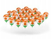 Balloons With Flag Of Niger