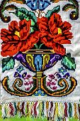 Materials And Embroidered Romanian Traditional Port Specific
