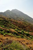 picture of mountain-range  - The mountain range of Sera and its sharp peak circulates the island of Fogo serving as the barrier for the highest free standing mountain found on the - JPG