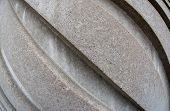 picture of diagonal lines  - Diagonal concrete lines in a wall design seen with a wide angle lens texture or pattern surface with creative distortion - JPG