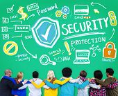 stock photo of social-security  - Security Shield Protection Privacy Network Concept - JPG