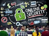 picture of online education  - Online Security Protection Internet Safety Learning Education Concept - JPG