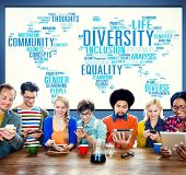 stock photo of racial diversity  - Diversity Community Population Business People Concept - JPG