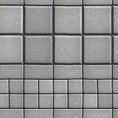 picture of slab  - Gray Paving Slabs Lined with Squares of Different Value and Rectangles - JPG