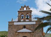 image of canary-islands  - The church of Nuestra senora de la Pena in Vega de Rio Palmas on the Canary Island Fuerteventura - JPG