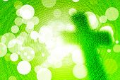 image of holy-spirit  - Abstract holy cross christ with bokeh on green background religion concept - JPG