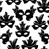 picture of carnival rio  - Seamless pattern with carnival mask - JPG