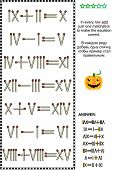 pic of subtraction  - Visual math puzzle with roman numerals - JPG