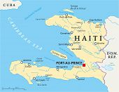 foto of greater antilles  - Haiti Political Map with capital Port - JPG
