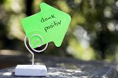 stock photo of positive thought  - handwritten german words  - JPG