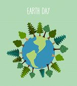 picture of tree leaves  - earth day - JPG