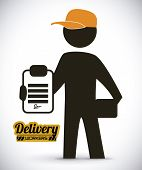 image of lineman  - delivery  design over white background - JPG