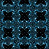 foto of viking  - Abstract blue metallic texture with viking like symbols made seamless - JPG