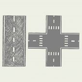stock photo of long winding road  - Road - JPG