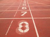 stock photo of arena  - retro sport running track abstract arena athlete - JPG