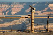 foto of observed  - Observation telescope at the South Rim of the Grand Canyon AZ USA travel destination - JPG