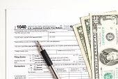 picture of fill  - Tax form and Money - JPG