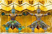 Giant Stand Around Pagoda Of Thailand
