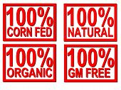 100% Organic, Natural, Gm Stamps