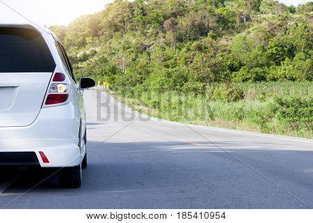Car running on