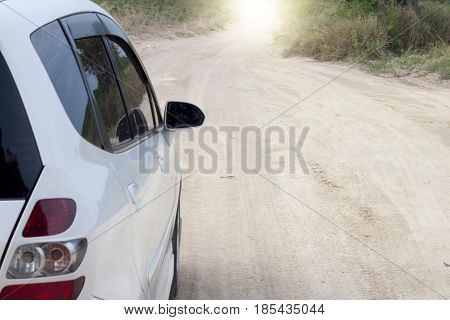 Car stopping on