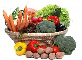 Healthy Vegetables in a Basket