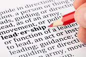 Leadership - definition in a dictionary