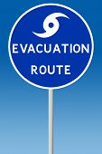 Hurricane Evacuation Sign