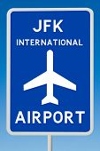 JKF International Airport Sign