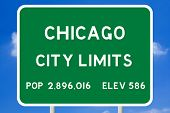 Chicago City Limits Road Sign