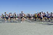 Jacksonville, FL - February 8: Start of Beaches 10 Mile Run at Jacksonville Beach, Florida on February 8, 2009.