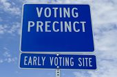 Voting Precinct Sign