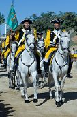 VALENCIA, SPAIN - NOVEMBER 28:  Spanish Horse Regiment Lusitania 8 (Marines) at their 300 year anniv