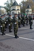 VALENCIA, SPAIN - DECEMBER 19: Spain's Military Regiment Lusitania 8 (Marines) celebrate their 300 y