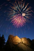 Fireworks over Mount Rushmore