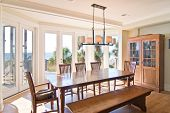 dining room with expansive view of the ocean