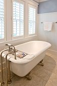 picture of clawfoot  - classical modern bathroom with clawfoot tub - JPG