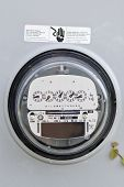 american electricity meter with room for copy