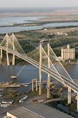 suspension bridge over savannah river, ga