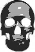 Skull in black and white vector format