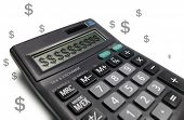 Calculator with dollar sign